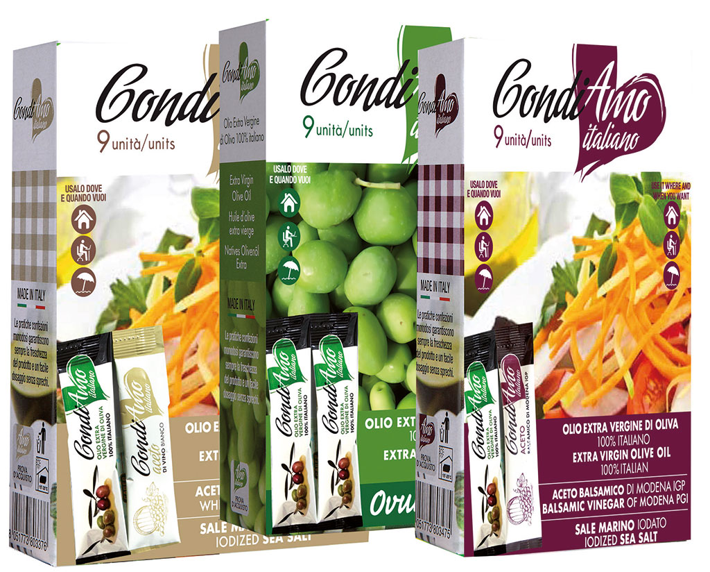 Condiamo Italiano Tris of Single-Serving Packs